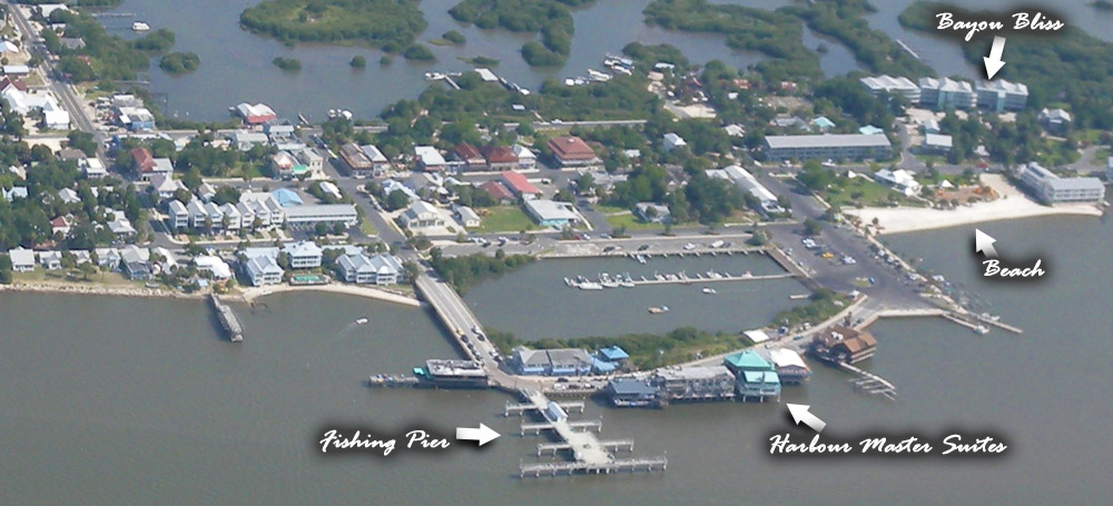 aerial photo of Cedar key