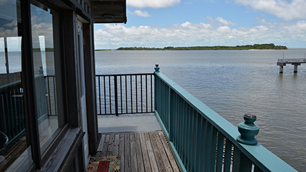 view of the Cedar Key fishing pier