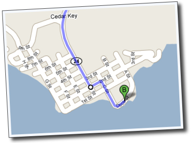 street map of Cedar Key, Florida